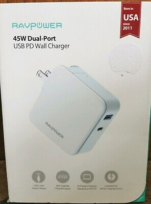 AU20 • Buy RAVPower 45W USB C PD Port AU PLUG Wall Charger