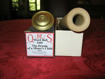 $ CDN14.34 • Buy The Dream Of A Miner's Child - QRS Player Piano Roll #3408
