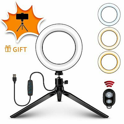 AU4.25 • Buy 6   LED Ring Light Phone Holder For Selfie Makeup Photography Video Live Stream