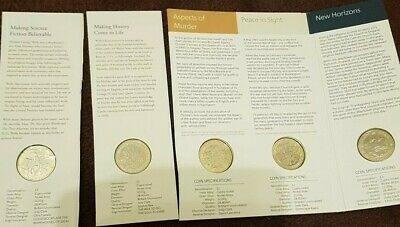 5 Coin Job Lot Of 2 Pound Coin Including 2021 H G Wells • 19.81£