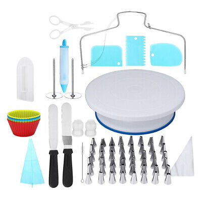 £24.83 • Buy 106Pcs All In One Cake Decorating Supplies Kit With Rotating Turntable Stand