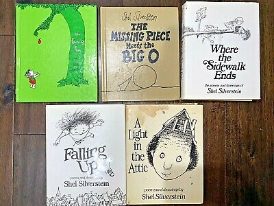 5 Collectible Shell Silverstein:A Light In The Attic, The Giving Tree,Falling Up • 16.02£