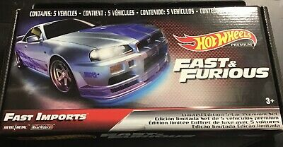 AU20 • Buy Hot Wheels Premium Fast And Furious Limited Edition 5 Car Set NEW & Sealed