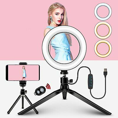 AU1.38 • Buy 6  LED Ring Light Dimmable With Tripod Stand Video Selfie Makeup Fill Lamp