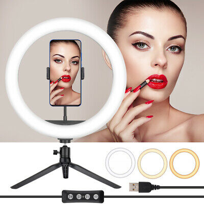 AU17.29 • Buy 12  LED Ring Light Dimmable Lighting Phone Selfie Tripod Stand Makeup Live Lamp