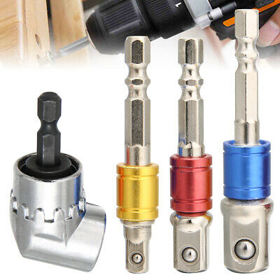 £6.39 • Buy 4x Right Angle Drill Adapter Attachment Impact Driver Extension Hex Bit Bend L