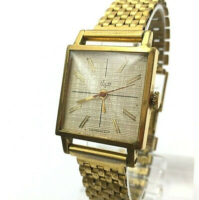 £41.04 • Buy Soviet LUCH Gold Plated Square Vintage Classic Wristwatch Mechanical Collectible