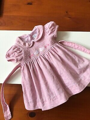 AU6.31 • Buy Stunning John Lewis Traditional Smocked Baby Dress Size New-born