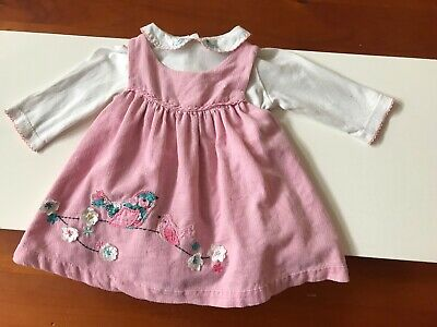 AU6.31 • Buy John Lewis Baby Pinafore Dress And Top Size New-born