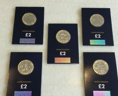 5 Coin Job Lot Of 2 Pound Coin Including 2021 H G Wells • 39.99£