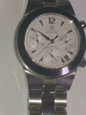 $825 • Buy Concord Mariner White Dial 5ATU Automatic Chronograph Watch 14 H7 1891