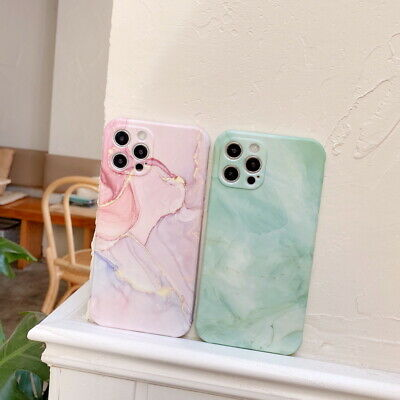 AU5.60 • Buy Case For IPhone 12 Pro Max 11 XS XR X 8 7 Plus Shockproof Marble Silicone Cover