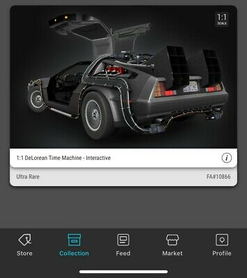 $450 • Buy ULTRA RARE VEVE NFT DeLorean #/12,500 Back To The Future⚡SOLD OUT⚡
