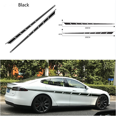 $13.03 • Buy 2PCS Vinyl Car Side Stripes Decals Stickers Auto Vinyl Graphics For SUV Off-road
