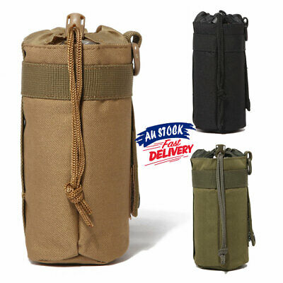 AU11.02 • Buy Outdoor Military Tactical Bag Molle Drink Amry Pouch Water Bottle Kettle Holder
