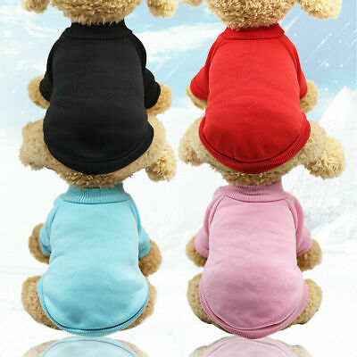 £3.19 • Buy Pet Dog Puppy Cat Clothes Outfits Hoodie Sweater Jacket Shirt Jumpsuit Adidog UK