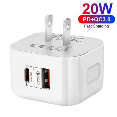 AU11.05 • Buy Dual Port 20W Qc3.0 USB Type-C UK Plug Fast Charger Power For IPhone 12 Pro Max