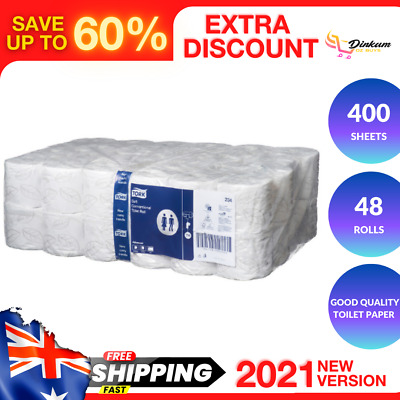 AU54.40 • Buy TORK Premium Toilet Paper 2 Ply 48 Rolls X 400 Sheets INDIVIDUAL WRAPPED TISSUE