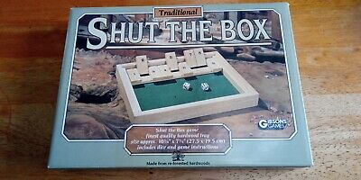 £7.50 • Buy 2 Players Shut The Box Wooden Traditional Pub Dice Family Kids Childrens Game