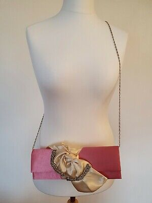 £8 • Buy Claudia Canova Pink Occasion Bag With Chain