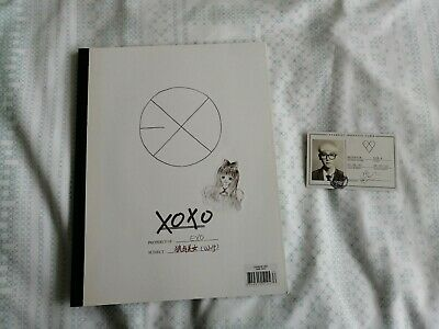 EXO XOXO First Album Chinese 'Hug' Version W/ BAEKHYUN Photocard OOP • 12£
