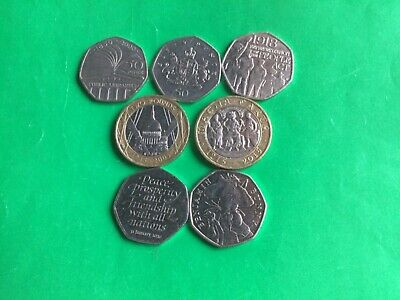 ( 27a )...Job Lot Of Rare Coins Collection £2 Pounds & 50p. • 10£
