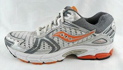 $ CDN30.23 • Buy Saucony Womens JA22 12 Silver Gray Orange Running Walking Sample Shoes Size 7