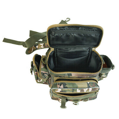 AU26.49 • Buy Fishing Tackle Bag Pack Shoulder Waist Waterproof Box Reel Lure Gears Storage AA