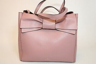 $ CDN13.16 • Buy Kate Spade New York Pink Leather Bow Front Shoulder Tote Bag