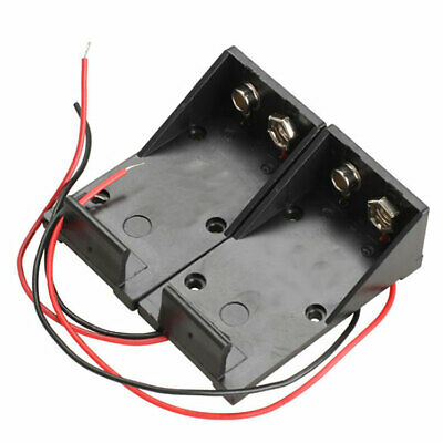 £1.89 • Buy 9V Volt Black Battery Clip Holder Box Case Cover With L6C0 Wire Lead Wire L8J1