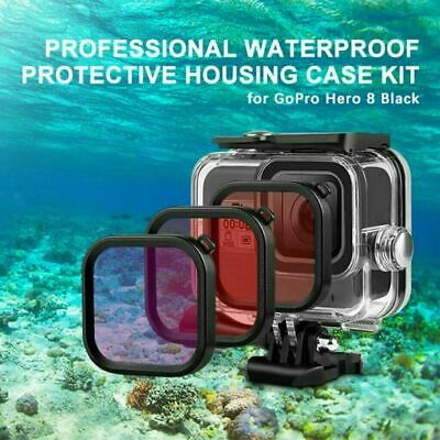 $ CDN12.52 • Buy 3Filter Kit Diving Protect Cover For Gopro Hero 8 Black Waterproof No Case