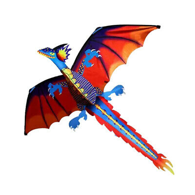 AU21.21 • Buy Beautiful Dragon Kite For Kids Adults Toy Fun Park Beach Game 140x120cm
