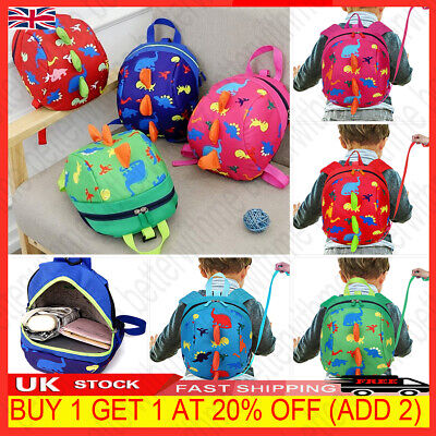 £7.50 • Buy Cartoon Baby Toddler Kid Walking Safety Harness Strap Bag Backpack With Reins UK