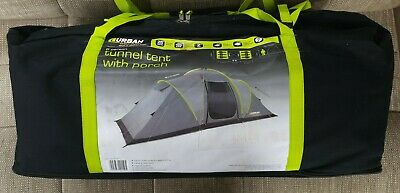 Urban Escapes 6 Person 2 Rooms Tunnel Tent With Porch. • 170£