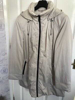 Cotswold Collection New Womens Cream Classic Padded Coat Detachable Hood Size 16 • 9.99£