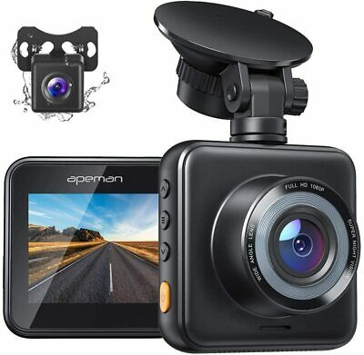 AU112.95 • Buy APEMAN Dual Dash Cam For Cars Front And Rear With Night Vision 1080P FHD...