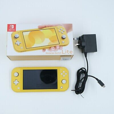 AU323.92 • Buy Nintendo Switch Lite Yellow Console With Box And Charger