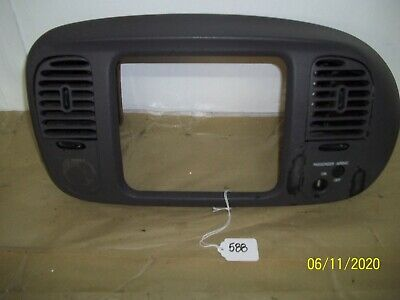 $35 • Buy 97-03 FORD F-150 EXPEDITION CENTER DASH RADIO CLIMATE CONTROL BEZEL TRIM Gray