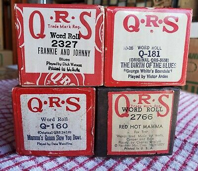 $ CDN16.23 • Buy 4 Hot Jazz/Blues QRS 88 Note Player Piano Rolls - Wendling, Straight, Arden, Etc