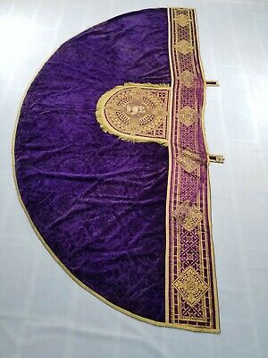 £300 • Buy Antique French Church Vestment Chasuble Priest Brocade 292x142cm