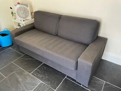 AU40.50 • Buy Queen Size IKEA Sofa Bed - Good Condition - Grey Fabric - Large Comfy Sofa & Bed