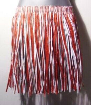 £4.99 • Buy England Grass Skirt St George Red White Fancy Dress Football Team Party