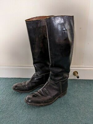 Antique Riding Boots. Mid Century. Good Conditions For Use Or Display. Horse. • 60£