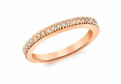 AU816.06 • Buy 9ct Red Gold Diamond Set Eternity Ring