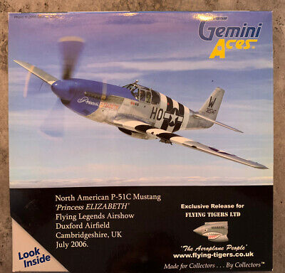 Gemini Aces GAUSA2AAA P-51C Mustang Princess Elizabeth 'Flying Tigers Special' • 0.99£