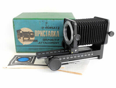 $31.95 • Buy Vintage PZF MACRO Attachment Bellows For M42 SLR Cameras USSR Soviet 1988