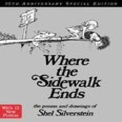 Where The Sidewalk Ends 30th Anniversary Edition, Hardback  By SHEL Silverstein • 15.71£