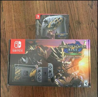 AU786.52 • Buy Nintendo Switch Monster Hunter Rise Deluxe Edition Console+Rise Pro Controller
