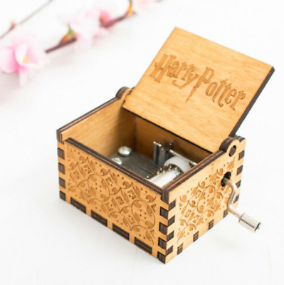 $ CDN1.24 • Buy Wooden Hand Cranked Music Box Toy Kid Gift - Harry Potter
