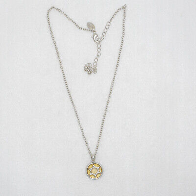 $ CDN8.77 • Buy Lia Sophia Jewelry Silver Tone Circle Pendant Six-pointed Star Necklace For Girl